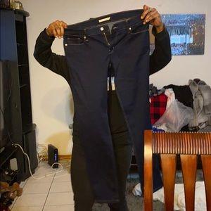 Blue blue skinny jeans